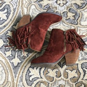 Not Rated Burgundy Ankle Boots